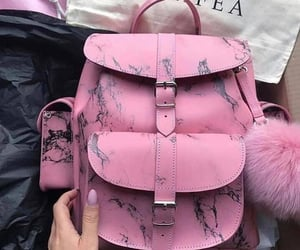 backpack, pink, and girls image
