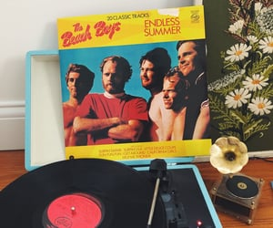 beach boys, record player, and stay home image