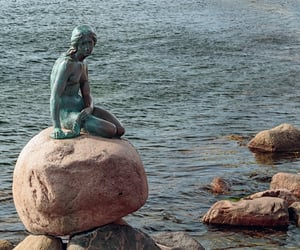 denmark, rocks, and statue image