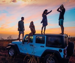 friends, travel, and summer image