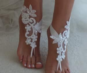 country wedding, etsy, and lace shoes image