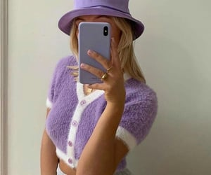 girl, purple, and style image