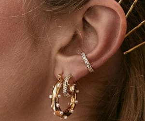 earrings, gold, and fashion image