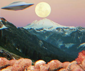 alien, mountains, and art image