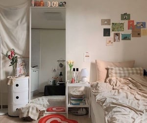 teenager, bedroom, and decor image
