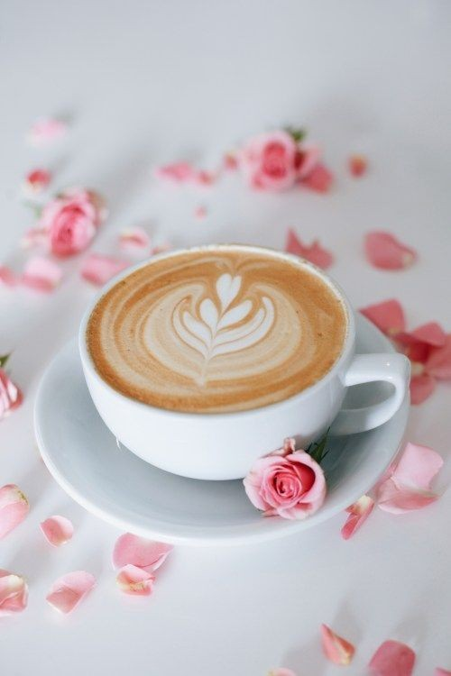 coffee, floral, and cafe image