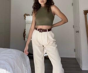 fashion, linen, and work pants image