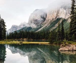 adventure, lake, and landscape image