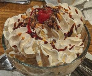 chocolate sundae w/ almonds