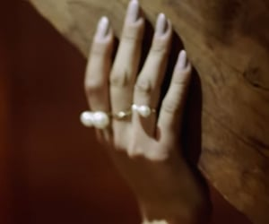 beige, hand, and ring image