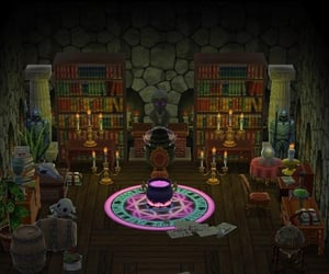 animal crossing, animal crossing witchy, and ac island theme image