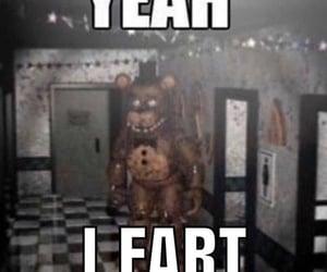 fart, fnaf, and freddy fazbear image