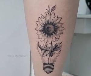 tattoo, girassol, and tatto image