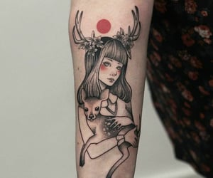 alternative, girls with tattoos, and art image