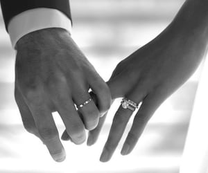 black and white, classy, and couple image