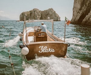 summer, boat, and beach image