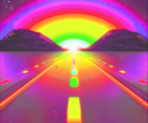 colours, journey, and rainbow image
