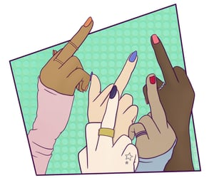 bff, nails, and together image