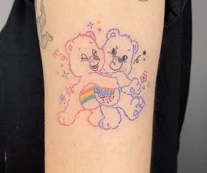 bear, tattoo, and blue image