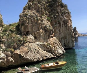 ocean, beach, and italy image