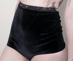 hipster, velvet, and hotpants image