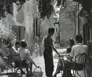 vintage, black and white, and france image