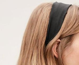 black, hair, and headband image
