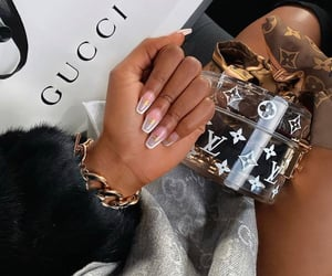 gucci, luxury, and nails image