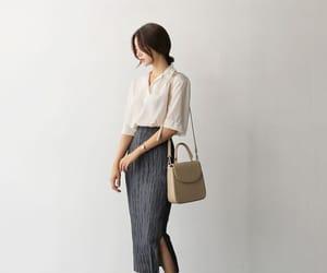 fashion, korean, and long image