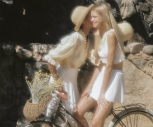 bicycle, dreamy, and girlfriends image