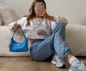 handbag, sneakers, and necklace image