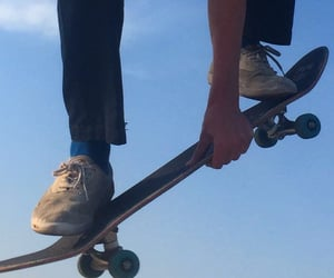 aesthetic, blue, and skate image