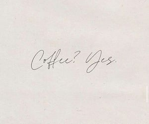 calligraphy, coffee, and delicious image
