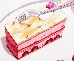 food, anime food, and discosnail image