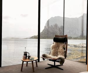 interior, sea, and chair image