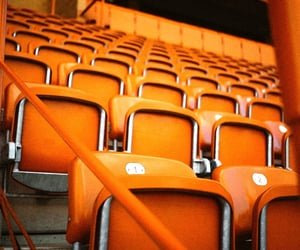 chairs, orange, and seating image