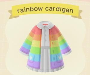 animal crossing, cardigan, and rainbow image