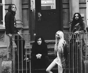 band, black and white, and the pretty reckless image