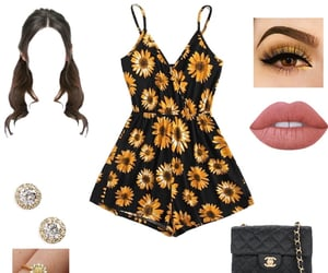 chanel, romper, and sandals image