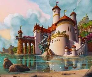 disney, ariel, and castle image