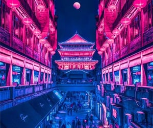 asia, lights, and night image