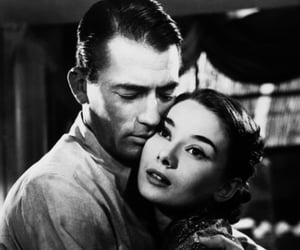 audrey hepburn, gregory peck, and roman holiday image