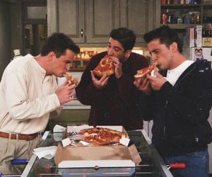 friends, pizza, and 90s image