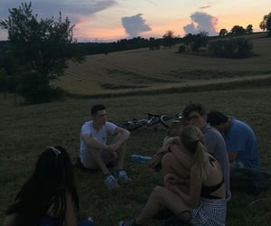 friends, friendship, and evening image