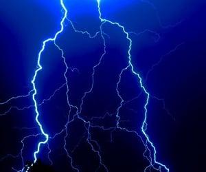 dark, lightning, and storm image