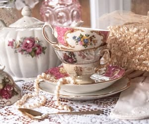 tea party and vintage image