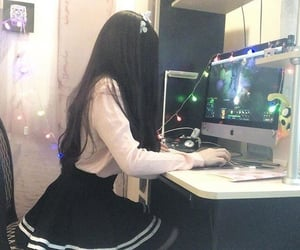 girl, cute, and gamer image
