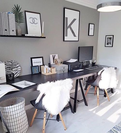 desk, modern, and interior design image