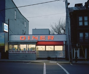 city, diner, and restaurant image