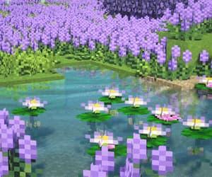 aesthetic, purple, and minecraft aesthetic image